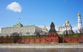 Russia moscow type to the kremlin and the river Stock Photography