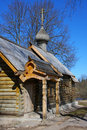 Russia. Old Ladoga. Church sacred great martyr of Stock Images