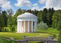 Russia. Pavlovsk. Pavilion in the park.Landscape in a sunny day Royalty Free Stock Photo