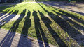 Russia - People Shadows On Grass