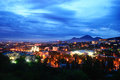 Russia pyatigorsk view of the evening city and mount mashtuk Royalty Free Stock Photos