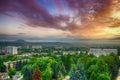 Russia pyatigorsk view of the evening city and mount mashtuk Stock Photo