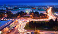 Russia rostov on don gagarin square don state technical unive university dstu evening Royalty Free Stock Photos
