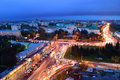 Russia rostov on don gagarin square don state technical unive university dstu evening Royalty Free Stock Image