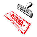 Russia rubber stamp Stock Photo