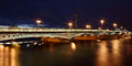 Russia saint petersburg blagoveshchensky bridge across river n evening lights the neva in st formerly the same Royalty Free Stock Photography