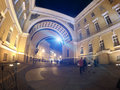 Russia, Saint Petersburg, palace square, Arch of General Army Staff Building Royalty Free Stock Photo