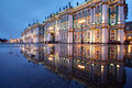 Russia, St. Petersburg, Hermitage buildings reflected in water, Royalty Free Stock Photo
