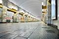 Russia st petersburg interior metro station march grazhdansky avenue underground saint Royalty Free Stock Photography
