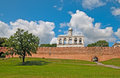 Russia. Veliky Novgorod. Belfry of The St. Sophia Cathedral Royalty Free Stock Photo