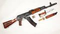 Russian ak assault rifle the and bayonet the is an upgrade of the original mm to × mm ammunition Royalty Free Stock Photography