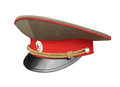 Russian army officer cap isolated Royalty Free Stock Photo