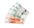 Russian banknotes one thousand and five thousand