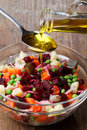 Russian beetroot salad Stock Photography