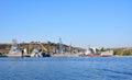 Russian black sea fleet ships docked in the south bay of sevastopol ukraine october Stock Photo