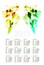 Russian Calendar 2011 Royalty Free Stock Photography