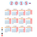 Russian calendar vector illustration Stock Photo