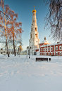 Russian christian church in winter, Moscow, Russia Royalty Free Stock Photography