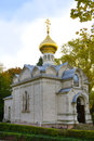 Russian church in baden baden germany the near the lichtentaler avenue Royalty Free Stock Images