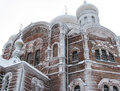 Russian church belogorsky monastery in perm region Stock Photos