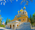 The Russian Church in Jerusalem Royalty Free Stock Photo