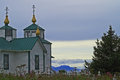 Russian church at soldotna in alaska Royalty Free Stock Photo