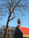 Russian church tower golden in blue sky background lithuania Royalty Free Stock Photos