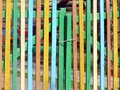 Russian colorful fence Royalty Free Stock Photography
