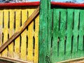 Russian colorful fence Stock Photo