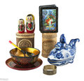Russian crafts traditional on a white background Royalty Free Stock Photos