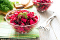 Russian cuisine salad beetroot Stock Photo