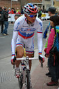 Russian cycling champion Ivanov Royalty Free Stock Images
