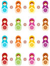 Russian doll background Stock Photography