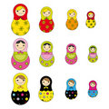 Russian doll pattern Stock Image