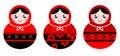 Russian doll set Royalty Free Stock Photo