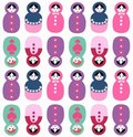 Russian dolls seamless pattern Stock Photo