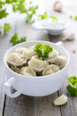 Russian dumplings and garlic