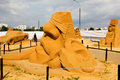 Russian exhibition of sand sculptures. Composition