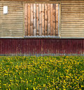 Russian exterior with painted planks Royalty Free Stock Photography
