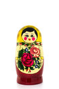 Russian family set doll isolated on white background Royalty Free Stock Photo