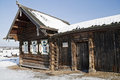 Russian farmstead Stock Photo