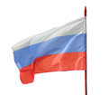 Russian flag flutter on the wind isolation a white background clipping path Stock Image
