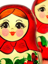 Russian folk art hand painted toy Stock Photo