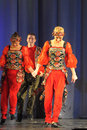 Russian folk dance group performance in st petersburg russia Royalty Free Stock Photography
