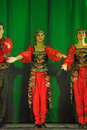 Russian folk dance group performance in st petersburg russia Royalty Free Stock Image