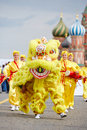 Russian followers of falun gong falun dafa moscow may on red square during th sports forum gto may moscow russia more than teams Stock Images