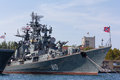 Russian frigate Sharp-witted in Sevastopol Royalty Free Stock Photo