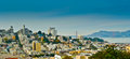Russian hill and golden gate bridge seen from telegraph hill san francisco california usa Royalty Free Stock Photography