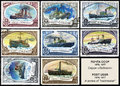 Russian icebreaker. Postage stamps Stock Photos