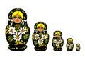 Russian Matrioska - Vector Royalty Free Stock Photo